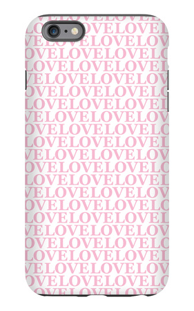 Pink Love Love Love iPhone 6s Plus Case by  Avalisa