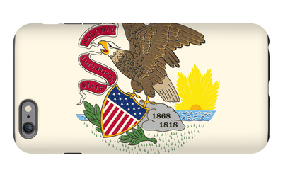 Illinois State Flag iPhone 6s Plus Case by  Lantern Press