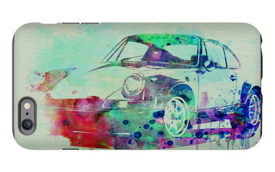 Porsche 911 Watercolor 2 iPhone 6 Plus Case by  NaxArt