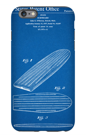 Surf Board Patent iPhone 6s Plus Case