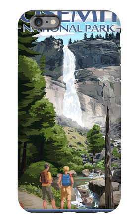 The Mist Trail - Yosemite National Park, California iPhone 6 Plus Case by  Lantern Press