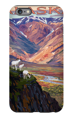 Denali National Park, Alaska - Polychrome Pass iPhone 6 Plus Case by  Lantern Press