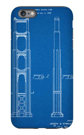 Golden Gate Bridge Patent iPhone 6s Plus Case