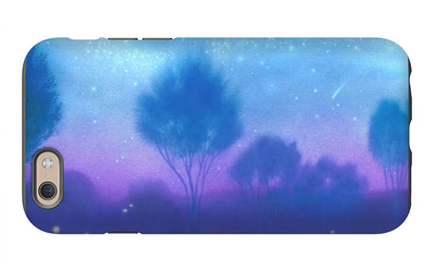 Evening Landscape with Fireflies iPhone 6s Case