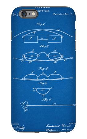 Spectacles, Glasses Patent iPhone 6s Plus Case