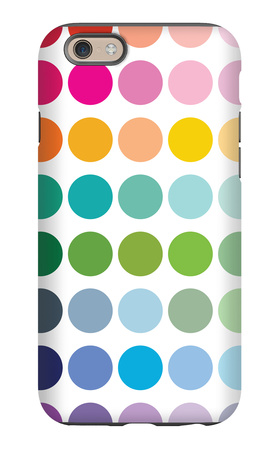 Rainbow Dots iPhone 6s Case by  Avalisa