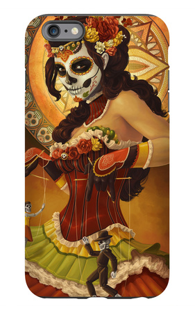Day of the Dead - Marionettes iPhone 6 Plus Case by  Lantern Press