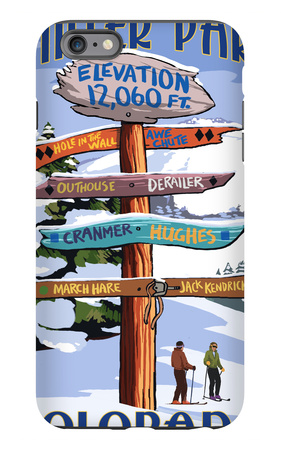 Winter Park, Colorado - Sign Destinations iPhone 6 Plus Case by  Lantern Press