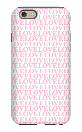 Pink Love Love Love iPhone 6s Case by  Avalisa