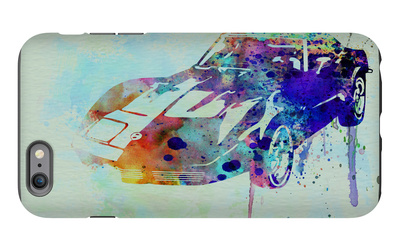 Corvette Watercolor iPhone 6 Plus Case by  NaxArt