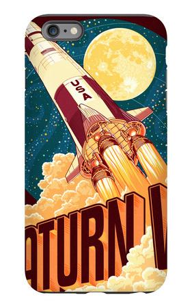 Saturn V Styalized iPhone 6s Plus Case by  Lantern Press