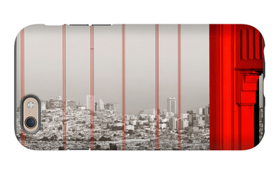 Golden Gate Bridge Closeup Panorama in San Francisco as the Famous Landmark. iPhone 6s Case by Songquan Deng