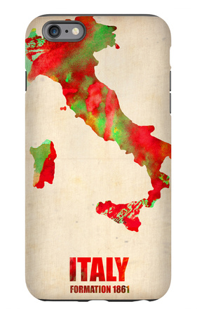 Italy Watercolor Map iPhone 6 Plus Case by  NaxArt