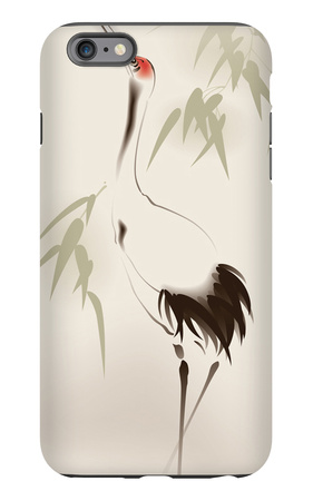 Oriental Style Painting, Red-Crowned Crane iPhone 6 Plus Case by  ori-artiste