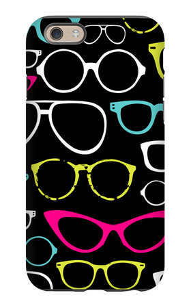 Retro Seamless Spectacles iPhone 6 Case by Alisa Foytik