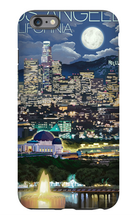 Los Angeles, California - Los Angeles at Night iPhone 6s Plus Case by  Lantern Press