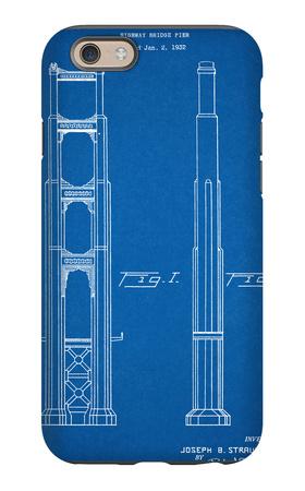 Golden Gate Bridge Patent iPhone 6s Case