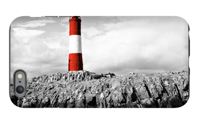 Lighthouse Border iPhone 6s Plus Case by Anna Coppel