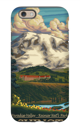 Paradise Inn, Mt. Rainier National Park, Washington iPhone 6s Case by  Lantern Press