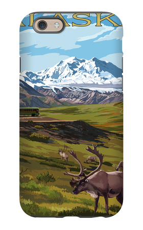 Denali National Park, Alaska - Caribou and Stoney Overlook iPhone 6 Case by  Lantern Press