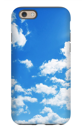 Blue Sky With Clouds And Sun iPhone 6 Case by  Elenamiv