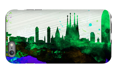 Barcelona City Skyline iPhone 6s Plus Case by  NaxArt
