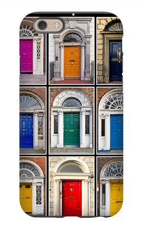 The Old Georgian Doors Of Dublin iPhone 6 Case by Domenico Matteo