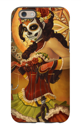 Day of the Dead - Marionettes iPhone 6s Case by  Lantern Press
