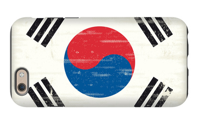 South Korea Grunge Flag. A Flag South Korea With A Texture iPhone 6 Case by  TINTIN75