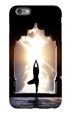 Yoga In Temple iPhone 6s Plus Case by Marina Pissarova