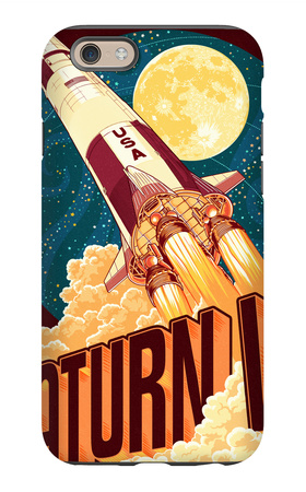 Saturn V Styalized iPhone 6s Case by  Lantern Press