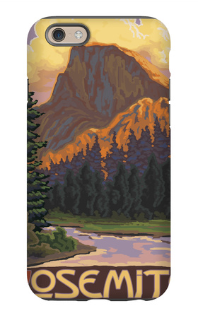 Half Dome, Yosemite National Park, California iPhone 6s Case by  Lantern Press