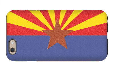 Arizona State Flag iPhone 6s Case by  Lantern Press