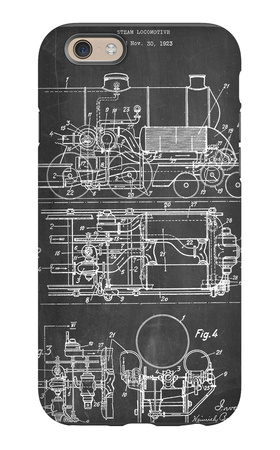 Steam Locomotive Patent iPhone 6 Case