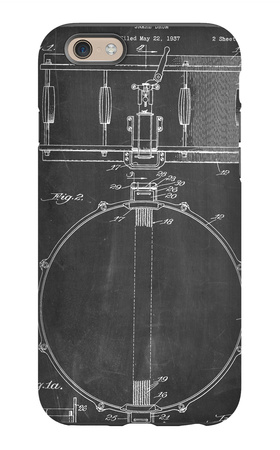 Snare Drum Instrument Patent iPhone 6 Case