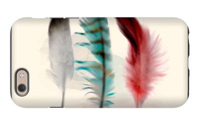 Three Feather Study 1 iPhone 6 Case by Evangeline Taylor