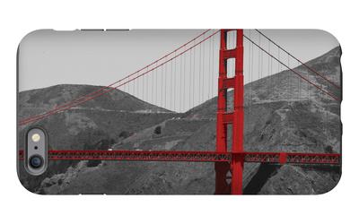 Golden Gate Bridge with Red Pop Border iPhone 6s Plus Case by Emily Navas