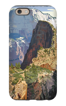 Zion National Park - Angels Landing iPhone 6s Case by  Lantern Press