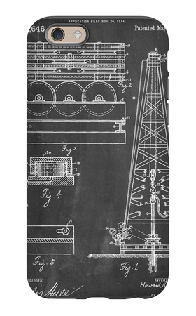 Drilling Rig Patent iPhone 6 Case