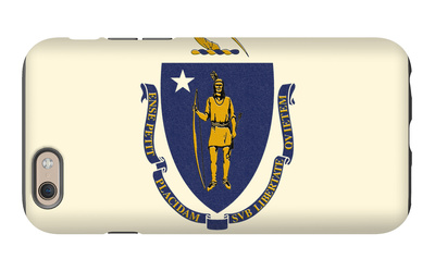 Massachusetts State Flag iPhone 6s Case by  Lantern Press
