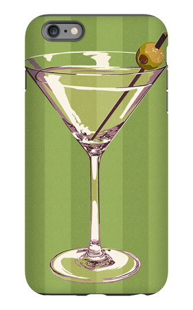 Martini Glass iPhone 6s Plus Case by  Lantern Press