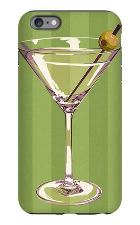 Martini Glass iPhone 6s Plus Case by  Lantern Press