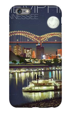 Memphis, Tennessee - Memphis Skyline at Night iPhone 6s Plus Case by  Lantern Press