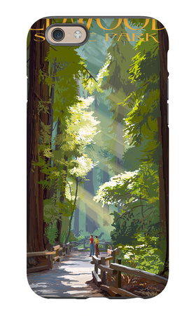 Redwoods State Park - Pathway in Trees iPhone 6s Case by  Lantern Press