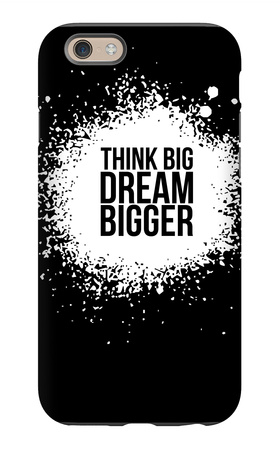 Dream Bigger Black iPhone 6s Case by  NaxArt