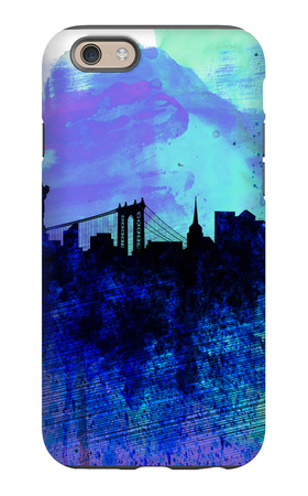 New York Watercolor Skyline 2 iPhone 6 Case by  NaxArt