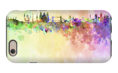 London Skyline in Watercolor Background iPhone 6 Case by  paulrommer