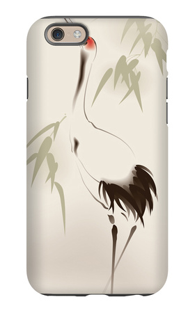 Oriental Style Painting, Red-Crowned Crane iPhone 6 Case by  ori-artiste