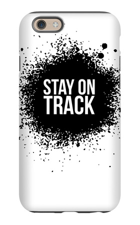 Stay on Track White iPhone 6s Case by  NaxArt