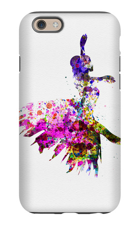 Ballerina on Stage Watercolor 4 iPhone 6 Case by Irina March